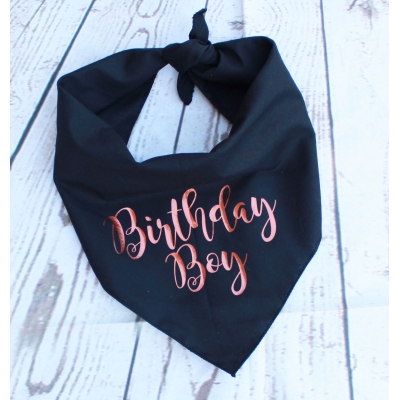 Copper Gold Birthday Bandana