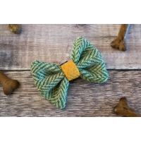 Green Herringbone Harris Tweed Bow Tie