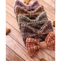 Pink and Purple Barleycorn Harris Tweed Bow Tie