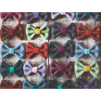 Pink and Lime Harris Tweed Bow Tie