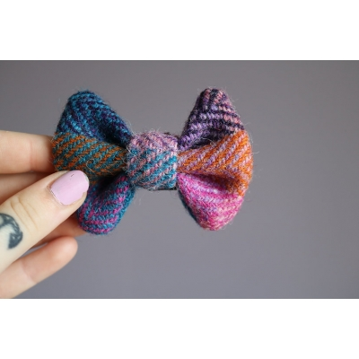 Patchwork Harris Tweed Bow Tie