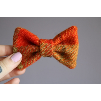 Orange Mix Harris Tweed Bow Tie