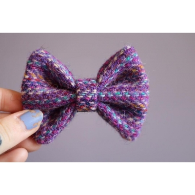 Purple Confetti Harris Tweed Bow Tie
