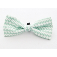Blue Ticking Bow Tie