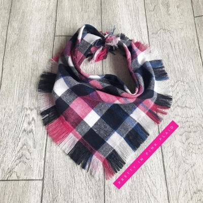 Frayed Pretty In Pink Bandana
