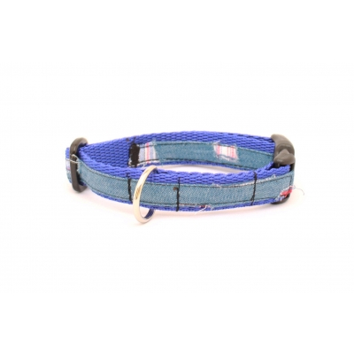 Denim Patch Slim Fit Collar - 15mm wide