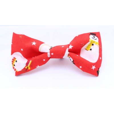 Red Snowman Christmas Bow Tie