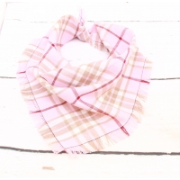 Frayed Strawberry Shortcake Plaid Bandana - Scamps