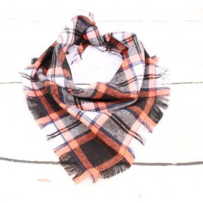 Frayed Smokey Jacks Plaid Bandana - Scamps
