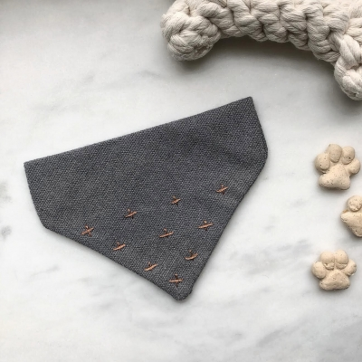 Ink Grey & Copper Bandana