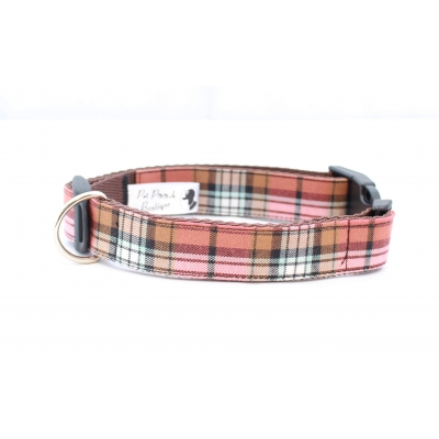 Mocha Barkberry Plaid Collar