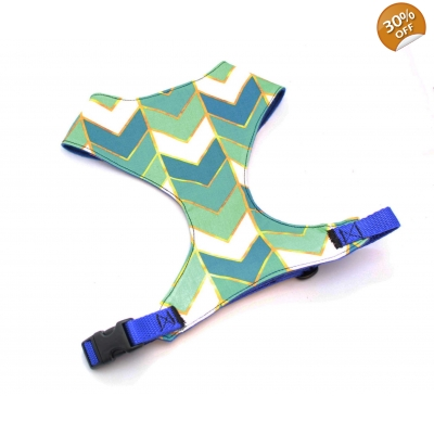 Copper Chevron Fabric Harness