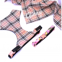 Barkberry Plaid On Rose Gold Fabric Harness