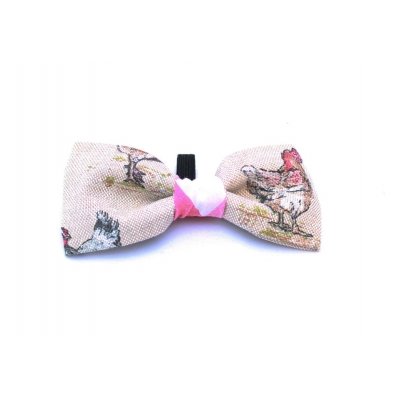 Country Cockadoodle Dog Bow Tie