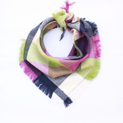 Frayed Apple & Blackberry Crumble Tweed Bandana - Scamps