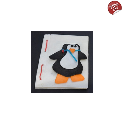 Edible Large Penguin Christmas Stocking Card