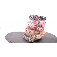 Sage Flower Buckle Collar
