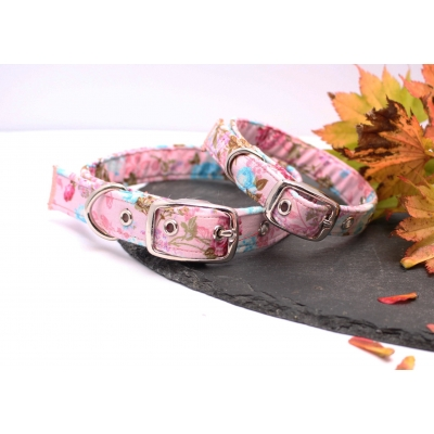 Sugar Pink Floral Buckle Collar