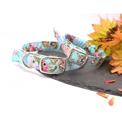 Electric Blue Floral Buckle Collar