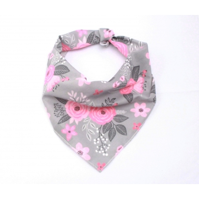 Dove Grey Floral Bandana
