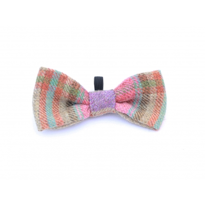 Foxy In Pink Dog Bow Tie