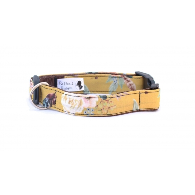 Mustard Yellow Floral Collar