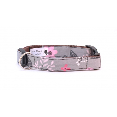 Dove Grey Floral Collar