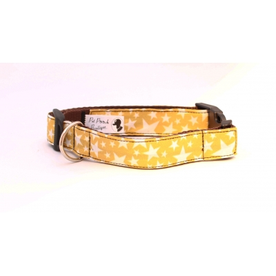 Mustard Yellow Stars Collar / Optional Hardware