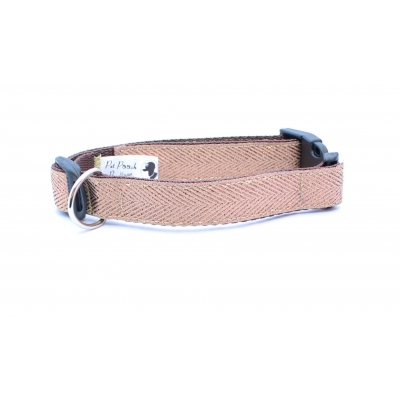 Copper Gold Herringbone Collar