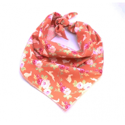 Ginger Cabbage Rose Bandana