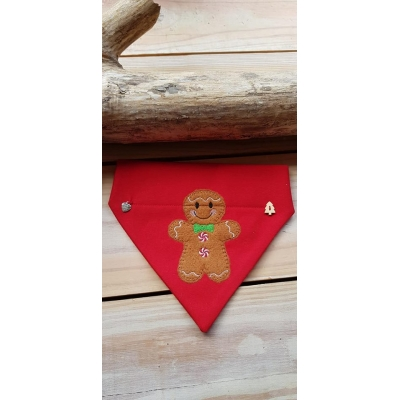 Red Gingerbread Man Slide On Bandana
