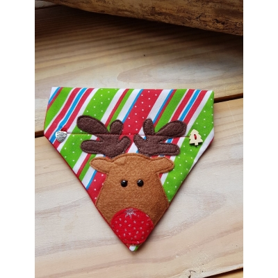 Little Rudolph Christmas Slide On Bandana