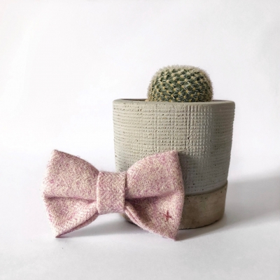 Pink & Copper Bow Tie