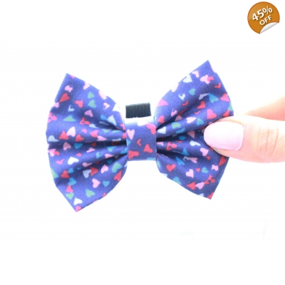 Crazy Little Hearts Handmade Dog Bow Tie