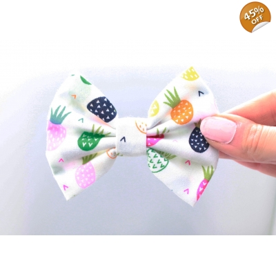 Party Pineapples Handmade Dog Bow Tie