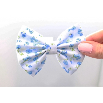 Cornflower Blue Handmade Dog Bow Tie