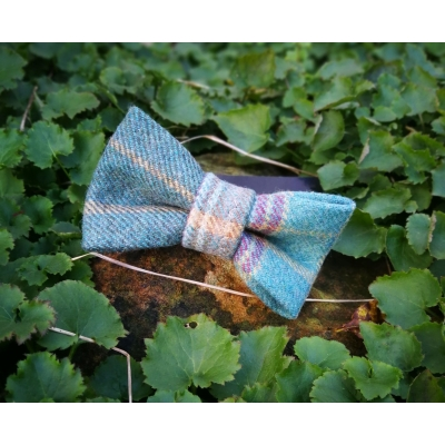 Green Check Luxury Tweed Bow Tie