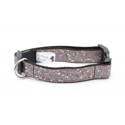 Graphite Blaze Dog Collar / Optional Hardware