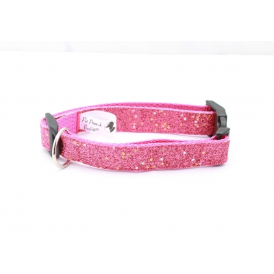 Pink Diamond Blaze Dog Collar / Optional Hardware