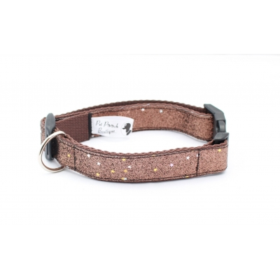 Caramel Blaze Dog Collar / Optional Hardware