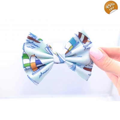 Sailing Away Handmade Dog Bow Tie