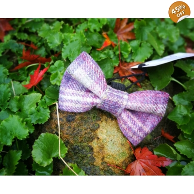 Purple Heather Luxury Tweed Bow Tie