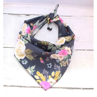 Midnight Blue Floral Bandana