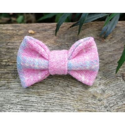 Pink Salmon Tweed Bow Tie - Hairy Scotsman