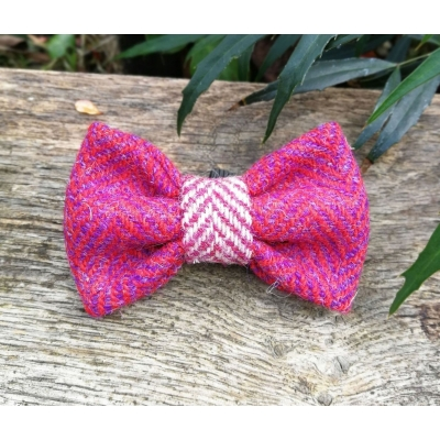 Cranberry Squirrel Tweed Bow Tie - Hairy Scotsman