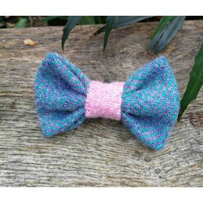 Isel Of Skye Pink Tweed Bow Tie - Hairy Scotsman