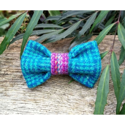 Emerald & Purple Tweed Bow Tie - Hairy Scotsman
