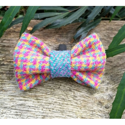 Speckled Hen in Blue Tweed Bow Tie - Hairy Scotsman