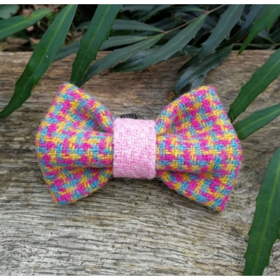 Speckled Hen in Pink Tweed Bow Tie - Hairy Scotsman
