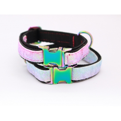 Unicorn with Oil Slick Fittings Slim Fit Collar - 15mm wide